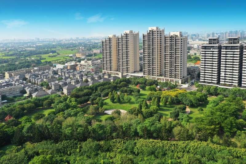 埔頂公園擁有5.5萬公頃的腹地(圖/三本建設 提供)