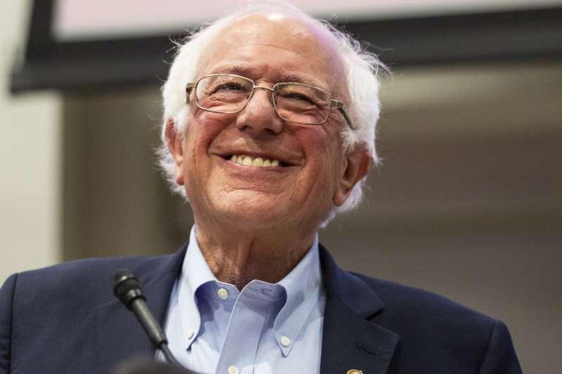 美國民主黨總統初選參選人桑德斯(AP)
