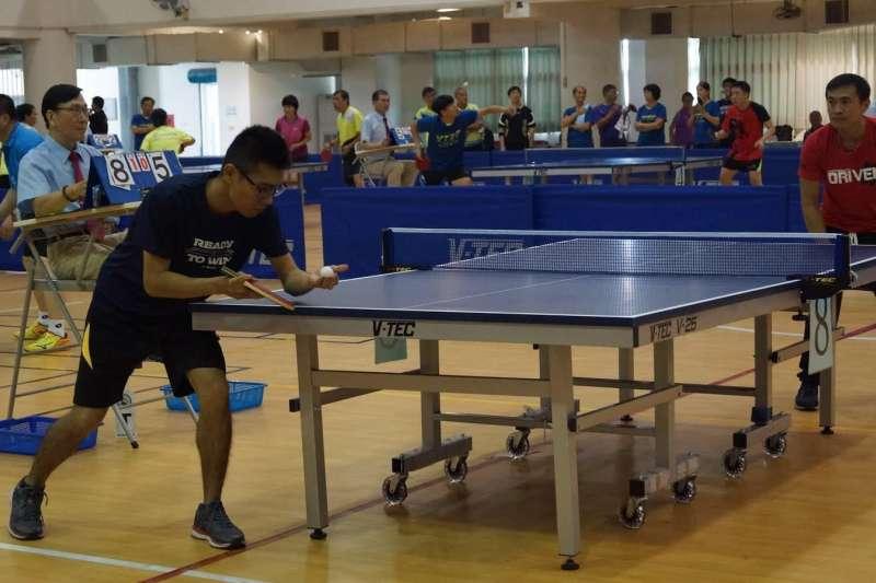 提倡林園區桌球運動風氣,以增進國民身心健康,除促進桌球運動發展外也向民眾推廣體育活動。(圖/徐炳文攝)