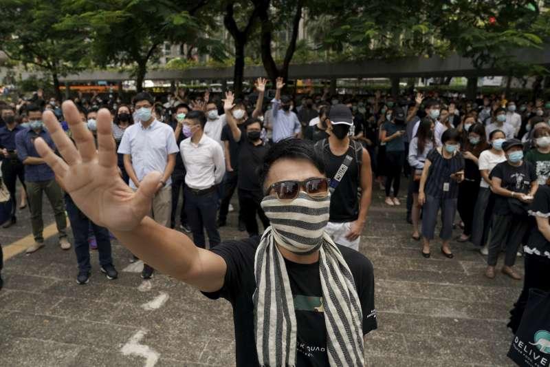 2019年10月4日,香港特首林鄭月娥宣布《禁止蒙面規例》從5日凌晨零時開始實施。(AP)