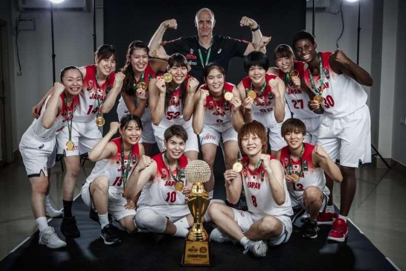 追平亞洲盃四連霸紀錄後,日本信心滿滿目標拿下東京奧運獎牌。(取自FIBA亞洲盃官網)