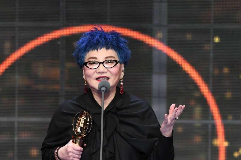 演藝事業超過一甲子的資深藝人張小燕獲頒金鐘獎終身成就獎。(金鐘獎提供)