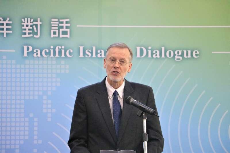 首屆太平洋對話開幕式:美國在台協會台北辦事處處長酈英傑(簡恒宇攝)