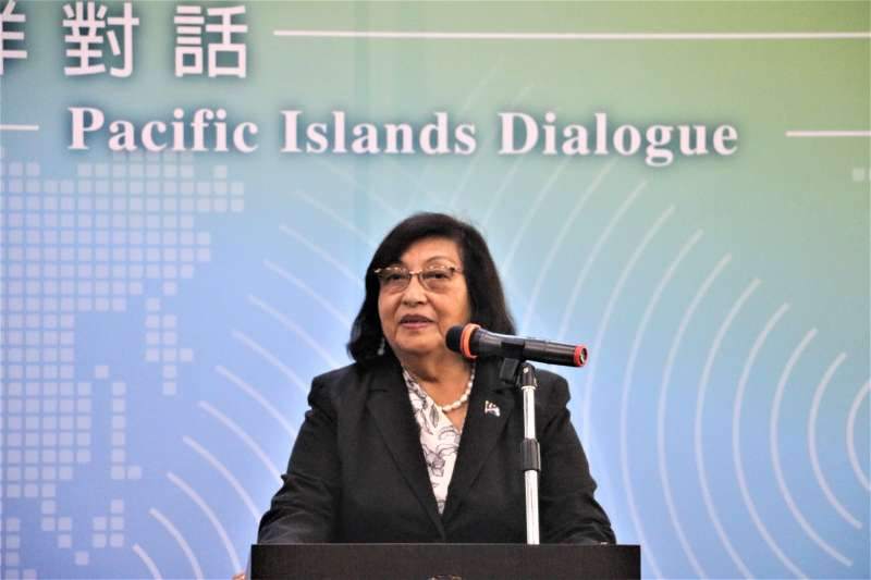 首屆太平洋對話開幕式:馬紹爾群島駐台大使艾芮瓊(簡恒宇攝)