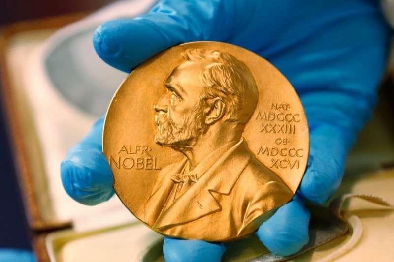諾貝爾獎得主將獲得金獎牌。(美聯社)