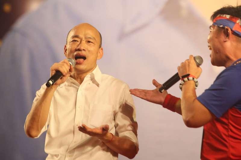 韓國瑜曾向藍營市議員表示,訪美的時間落在11月第2周。(柯承惠攝)