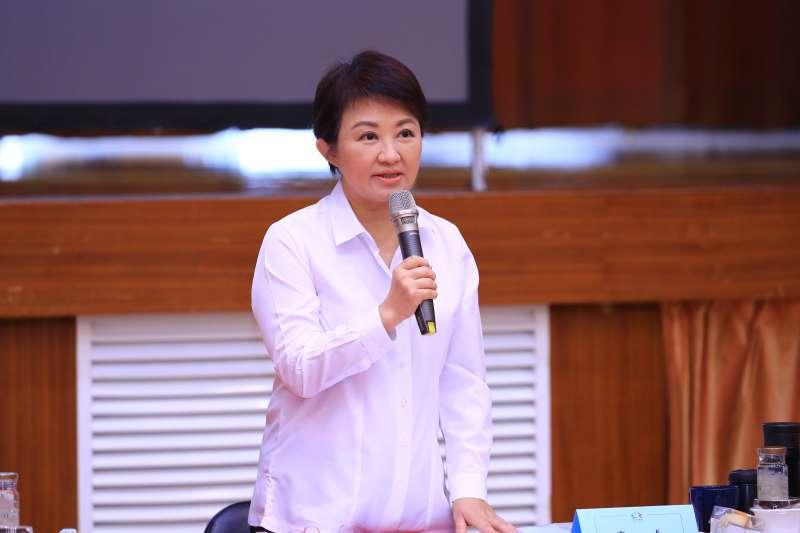 台中市長盧秀燕在市政會議中強調,中火對龍井區的促協金。台電欠多少,市府就補多少。(圖/台中市政府提供)