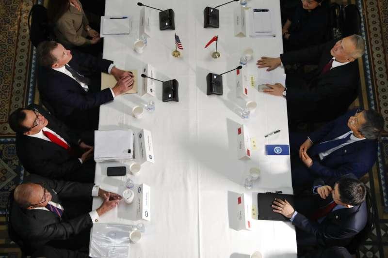 劉鶴2019年2月率團赴華府展開貿易磋商。(美聯社)