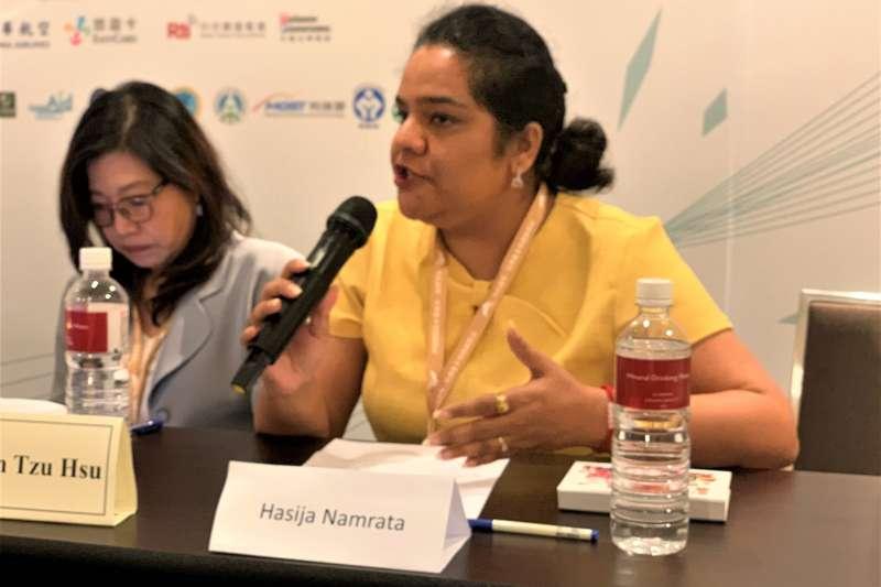 《台印關係研究報告書》:印度學者夏海娜(Hasiji Namrata)(簡恒宇攝)