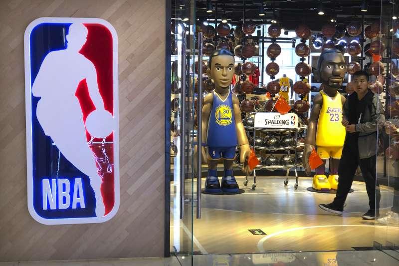 據富比世報導,NBA在2018年的總營收約為80億美元,中國市場也有高達12億的營收。 (美聯社)