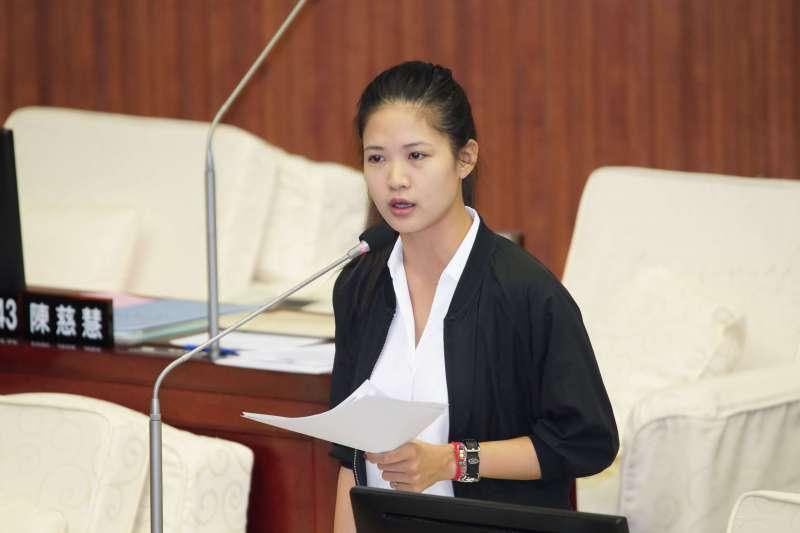 20191009-台北市議員林亮君出席市議會質詢。(盧逸峰攝)