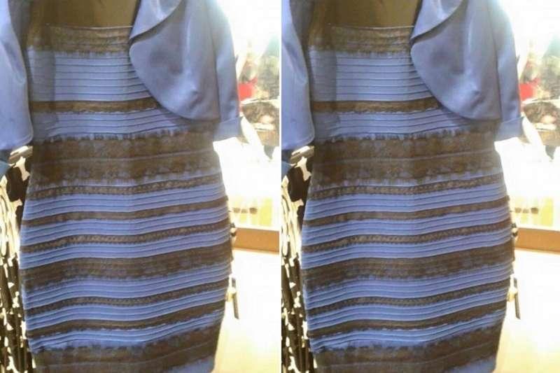 引發討論的洋裝。(維基百科)