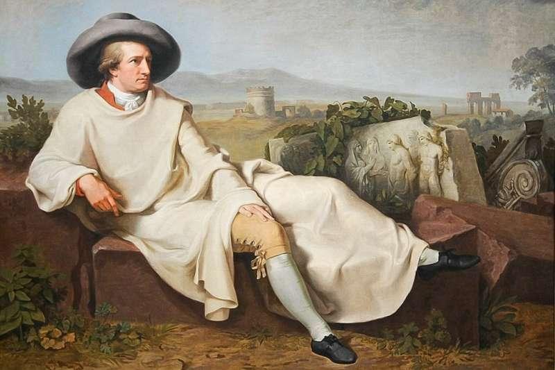 緹士拜恩1787年的畫作「歌德在義大利」(維基百科)