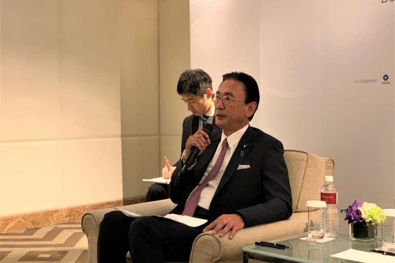 日本眾議員、日華懇談會會長古屋圭司(簡恒宇攝)