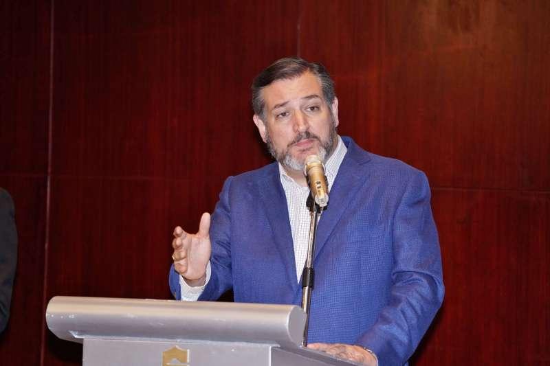 20191009-外交部舉辦「外交部長吳釗燮及美國 參議員克魯茲(Ted Cruz)聯合記者會」,克魯茲接受媒體提問。(盧逸峰攝)
