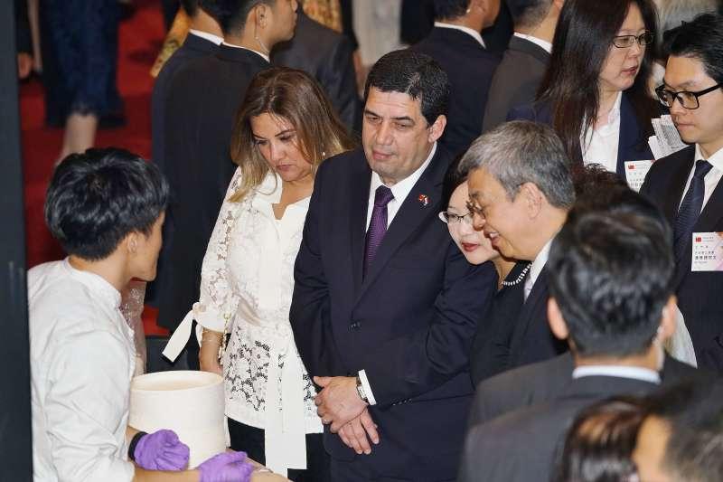 20191010-國慶酒會,巴拉圭副總統韋拉斯格斯(Hugo Velazquez)出席。(盧逸峰攝)