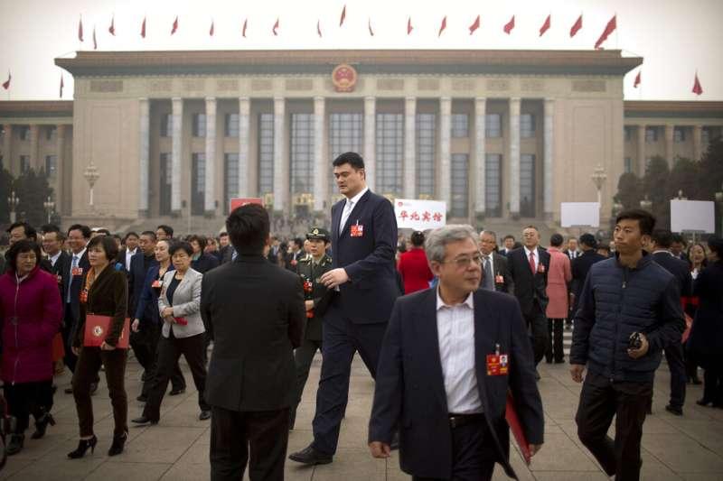 中國最知名的NBA球星姚明。(美聯社)