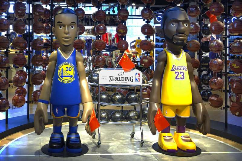 NBA挺香港争议持续延烧。(美联社)
