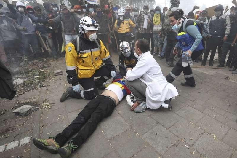 厄瓜多反撙節示威:警民衝突已至少5死(AP)