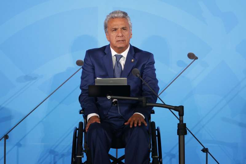 厄瓜多反撙節示威:厄瓜多總統莫雷諾(AP)