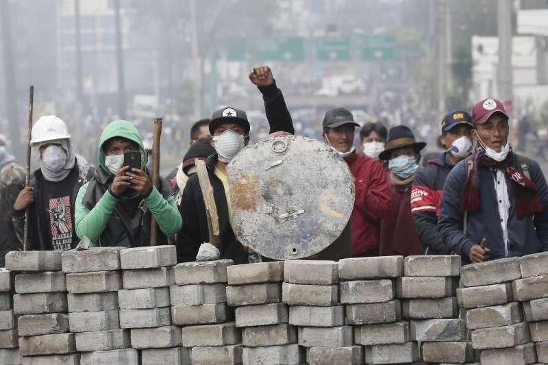 2019年10月,南美洲國家厄瓜多爆發大規模示威(AP)
