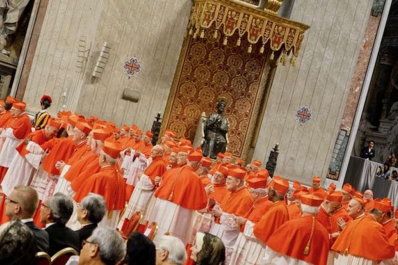樞機主教也稱之為紅衣主教(曾廣儀攝)