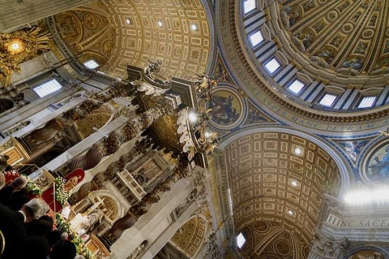 教宗方濟各在天主教的聖殿-聖伯多祿大教舉行典禮(曾廣儀攝)