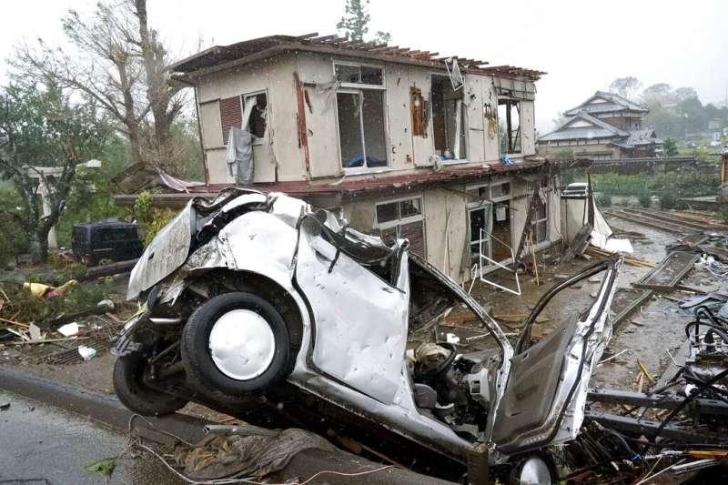 颱風哈吉貝(日稱「颱風19號」)重創日本,關東地區幾乎是一片狼籍。(美聯社)