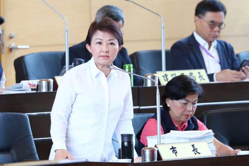 台中市長盧秀燕答覆議員提出針對空汙染問題。(圖/臺中市政府提供)