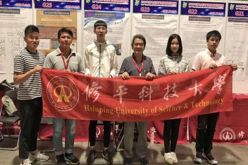 修平科技大學參與澳門國際創新發明展,8組參賽中獲得5面金牌、2面銀牌、1面銅牌。(圖/修平科技大學提供)