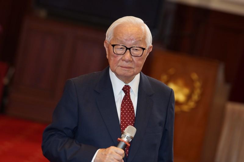20191014-總統府記者會,張忠謀出席。(盧逸峰攝)