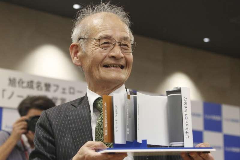 2019年諾貝爾化學獎得主吉野彰,以發明鋰離子電池的貢獻獲獎。(AP)