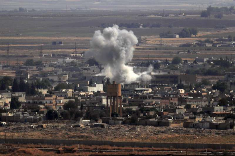 2019年10月,土耳其與敘利亞東北部庫德族的戰爭全面爆發(AP)