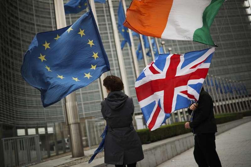 英國有望與歐洲談成初步協議,在10月31日大限順利脫歐。(AP)