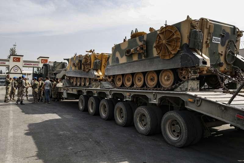 2019年10月,土耳其政府軍入侵敘利亞東北部庫德族地區(AP)