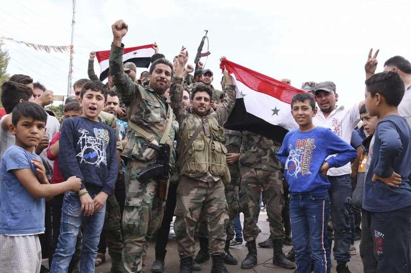 2019年10月,敘利亞政府軍進駐東北部庫德族地區(AP)