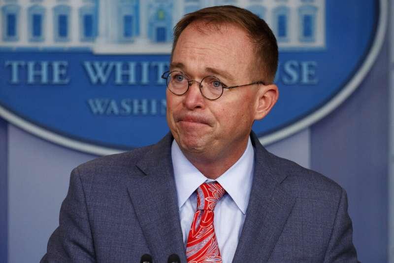 白宮代理幕僚長穆瓦尼10月18日指出,白宮扣住烏國軍援與川普拜託該國當局有關。(AP)