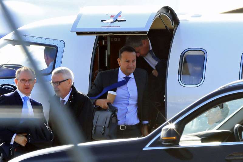 愛爾蘭總理瓦拉德卡10月中前往英國,商討英國脫歐後的北愛爾蘭邊界問題。(AP)