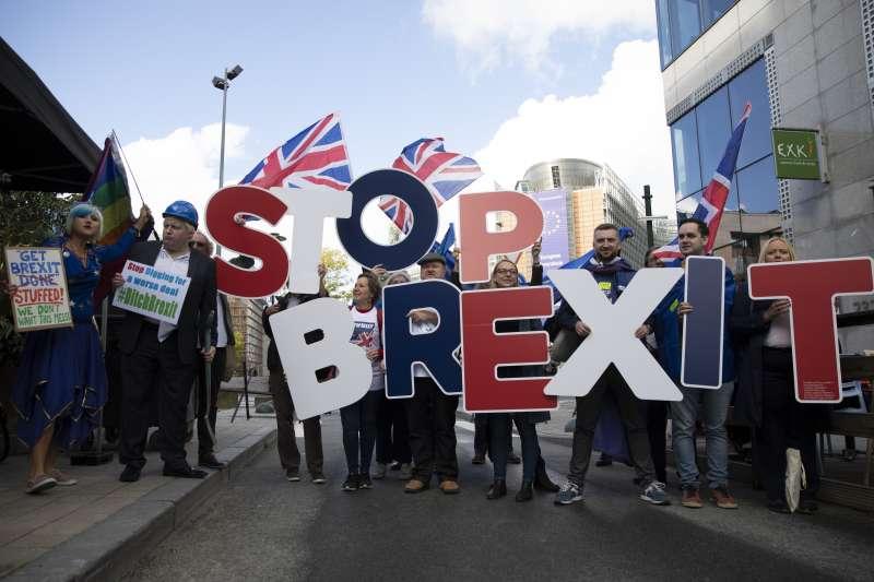 英國脫歐進程停滯,許多民眾希望留在歐盟(AP)
