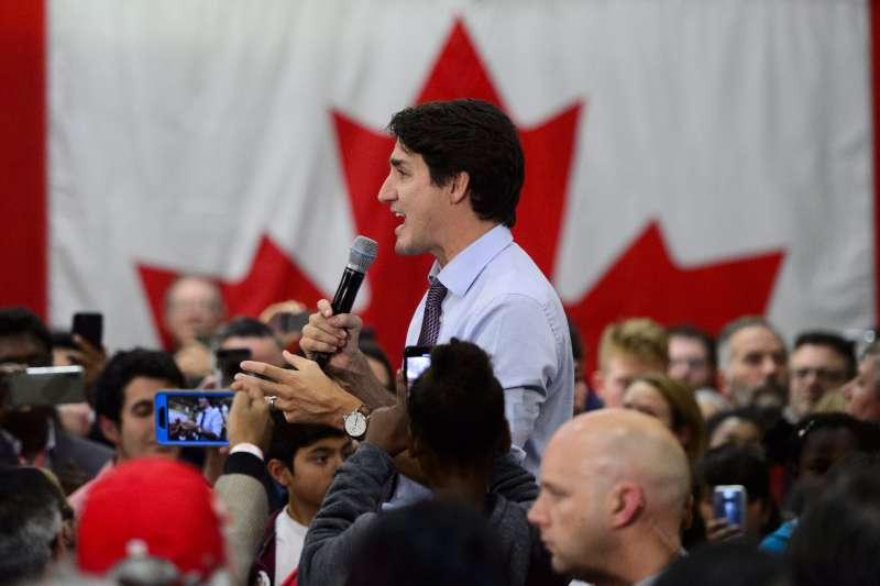 2019年10月,加拿大總統杜魯道(Justin Trudeau)爭取連任,卻陷入苦戰(AP)