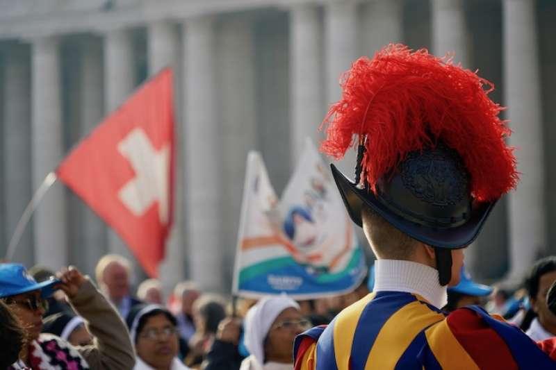 梵蒂岡的瑞士兵(曾廣儀攝)