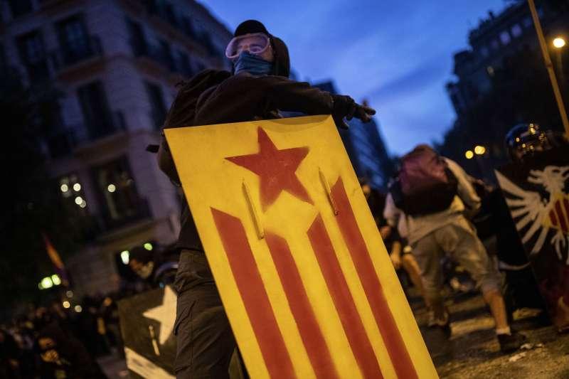 加泰隆尼亞示威(AP)