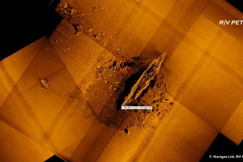 美國深海探測船「海燕號」20日尋獲中途島海戰日軍第2艘沉落航母。(翻攝自RV Petrel臉書)