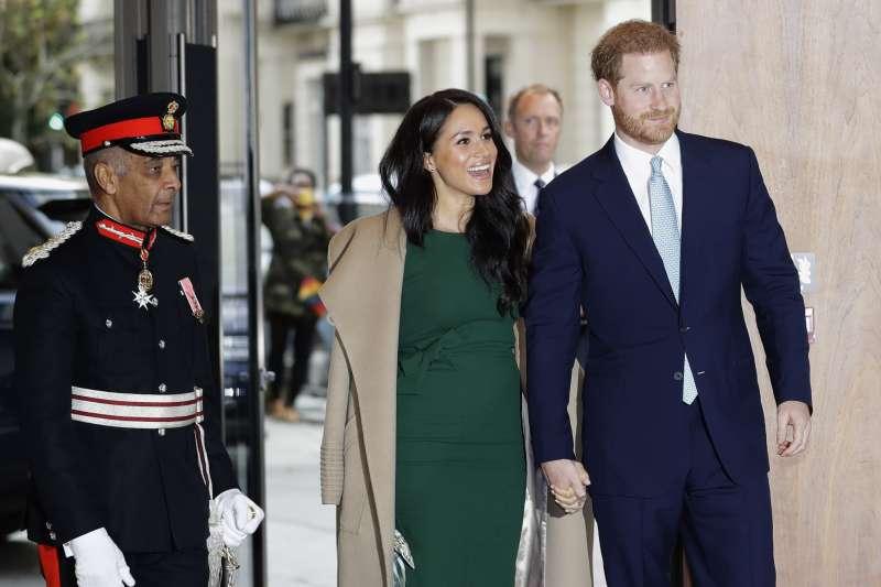 英國哈利王子與梅根王妃(AP)