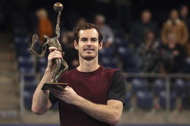 一度因為嚴重傷勢而決定從網壇退休,莫瑞在比利時安特衛普網賽決賽擊敗瑞士好手瓦林卡,奇蹟奪下復出首冠。(美聯社)