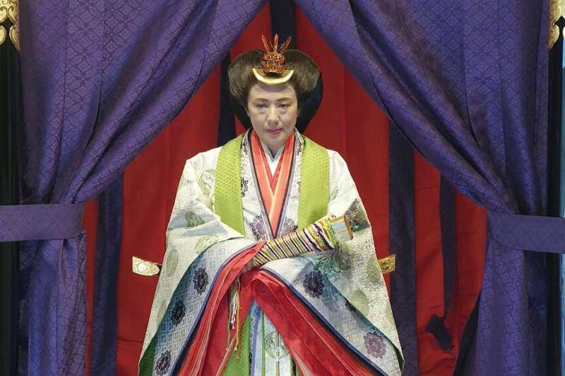 「即位禮正殿之儀」上的雅子皇后。(美聯社)