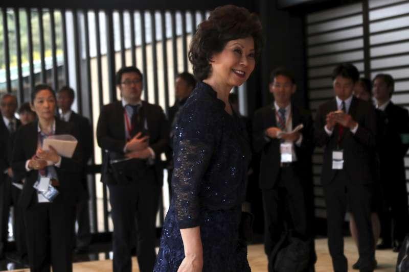 日本德仁天皇即位儀式:美國運輸部長趙小蘭出席觀禮(AP)