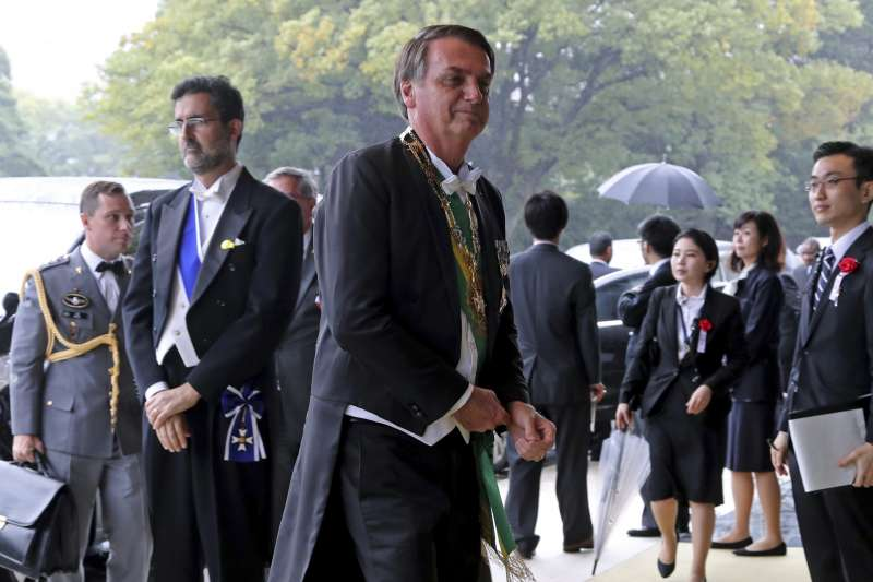 日本德仁天皇即位儀式:巴西總統博索納羅出席觀禮(AP)