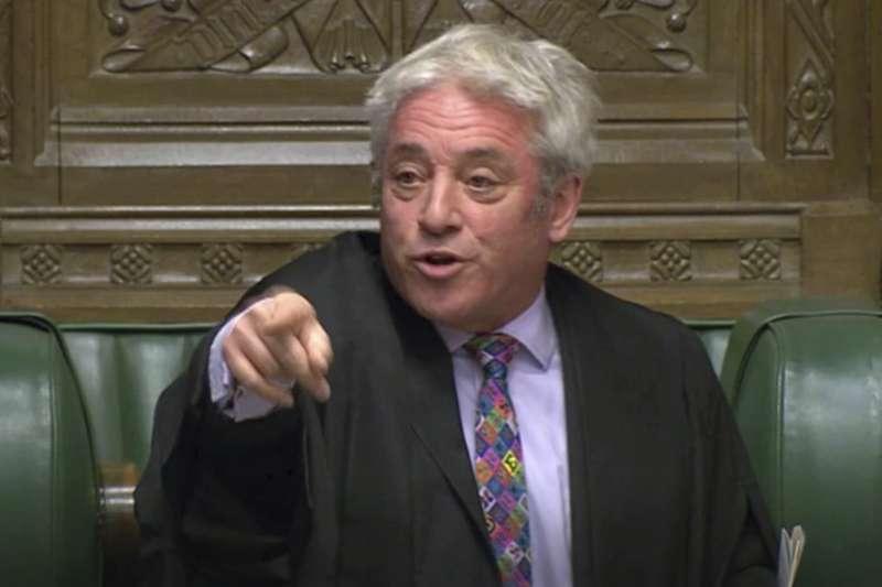 英國脫歐:下議院議長貝爾考(AP)