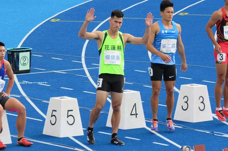 楊俊瀚在全運會100公尺項目跑出10秒33的成績奪冠,成功達成3連霸。(取自楊俊瀚粉絲頁)